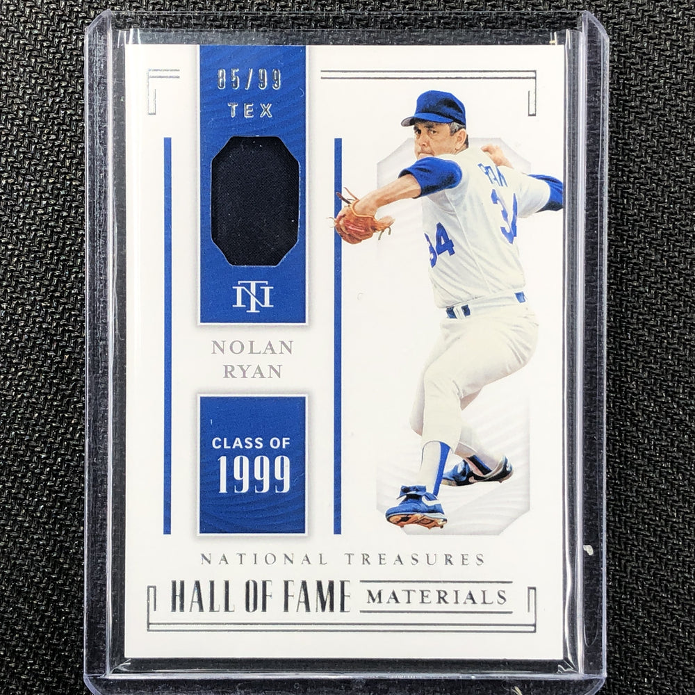 2019 National Treasures NOLAN RYAN Hall Of Fame Materials 85/99-Cherry Collectables