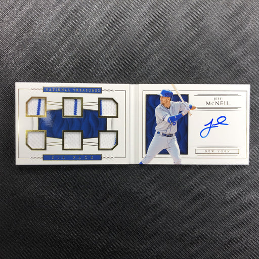 2019 National Treasures JEFF MCNEIL Six Pack Material Signatures 80/99-Cherry Collectables