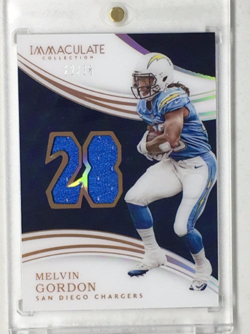 2016 Immaculate MELVIN GORDON Acetate Jersey Patches 22/28 - Cherry Collectables