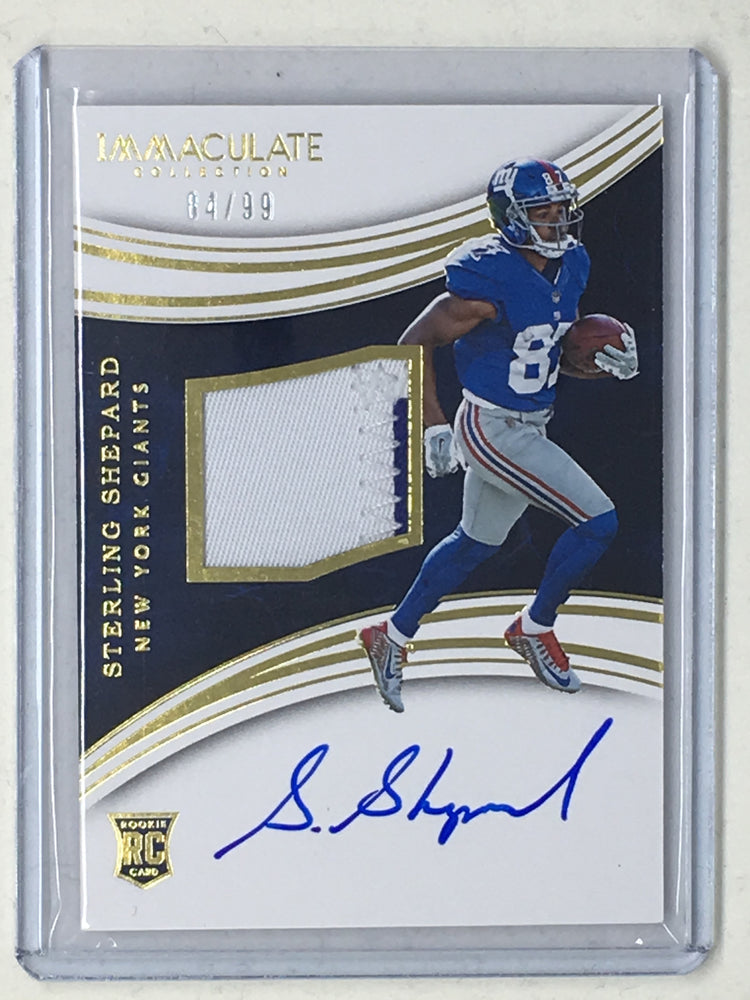 2016 Immaculate STERLING SHEPARD Patch RC Auto 4/99-Cherry Collectables