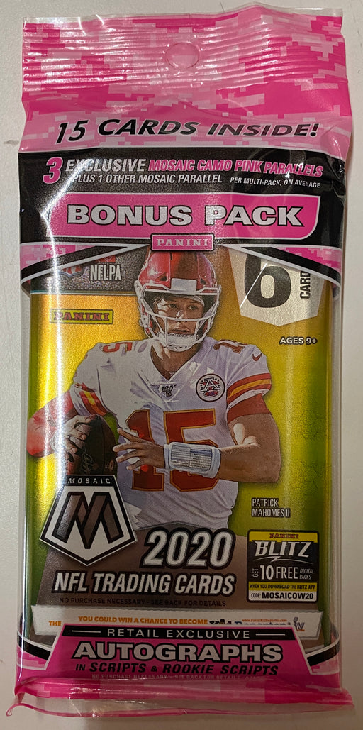 2020 Panini Mosaic Football Cello Multi Pack-Cherry Collectables