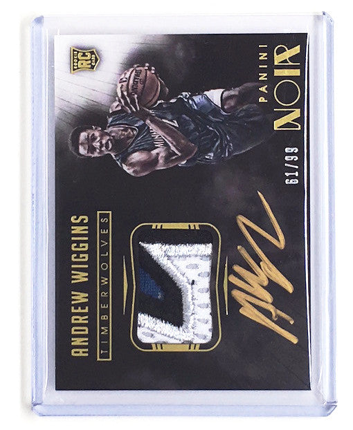 14-15 Panini Noir ANDREW WIGGINS RC Patch Auto Gold 61/99-Cherry Collectables