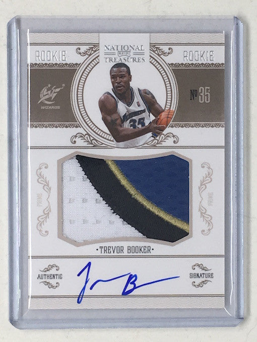 10-11 National Treasures TREVOR BOOKER Rookie Patch Auto RC /99-Cherry Collectables