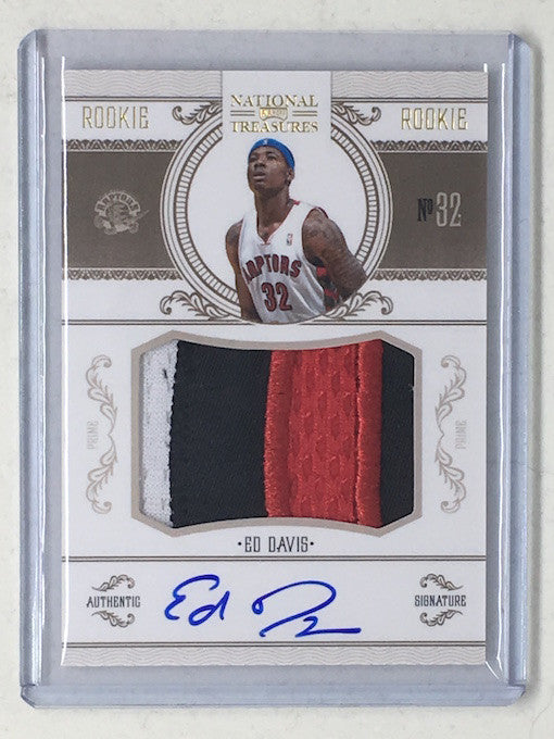 10-11 National Treasures ED DAVIS Rookie Patch Auto Gold RC /25 - Cherry Collectables