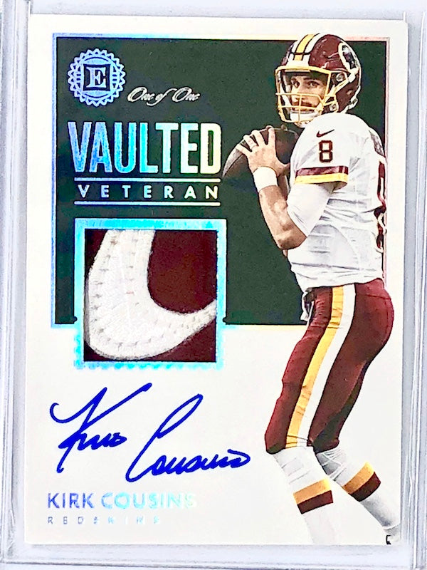 2017 Encased KIRK COUSINS Vaulted Veteran Nike Patch Auto 1/1-Cherry Collectables