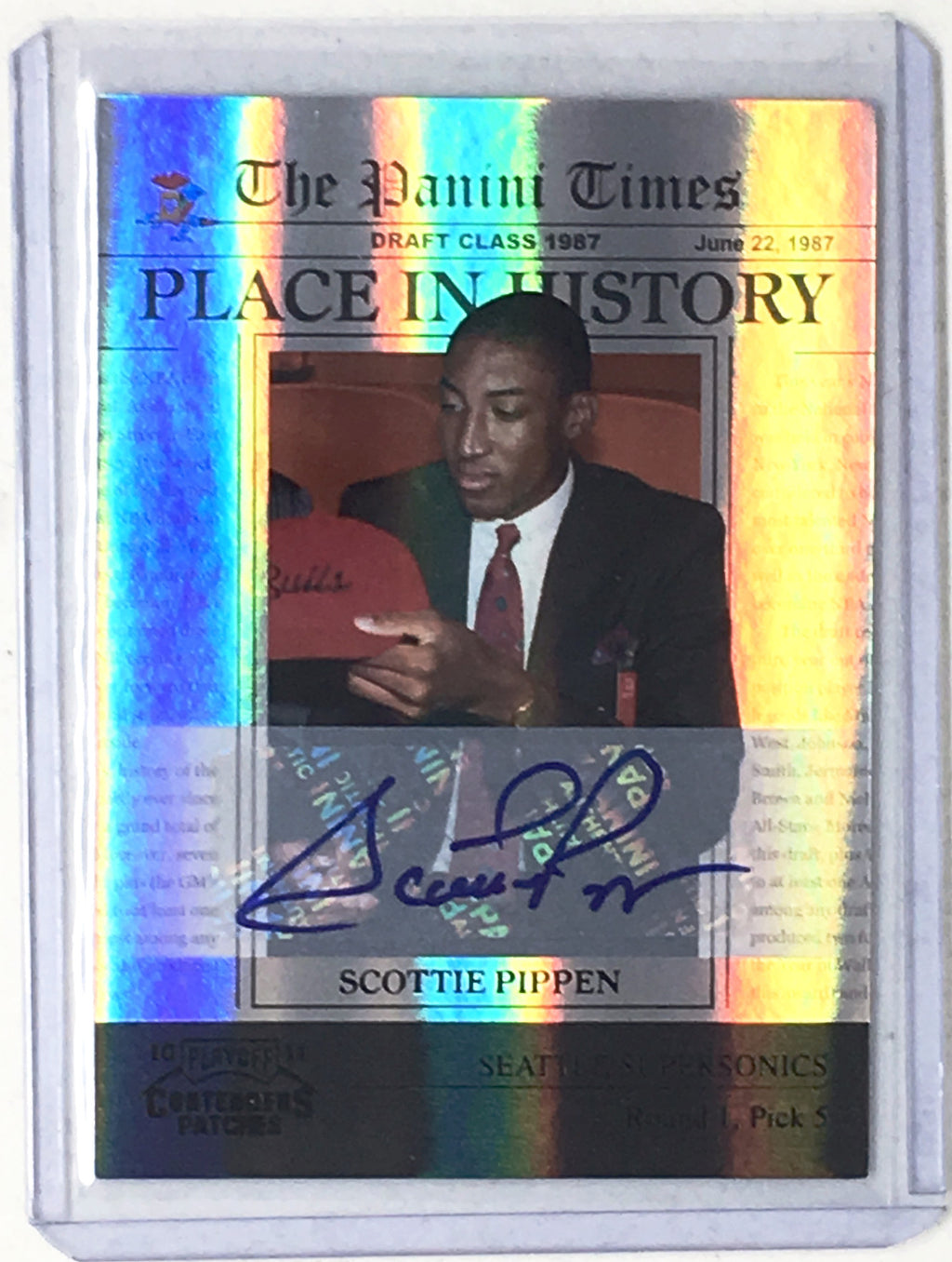 10-11 Playoff Contenders Patches SCOTTIE PIPPEN Place in History Auto 10/10 - Cherry Collectables