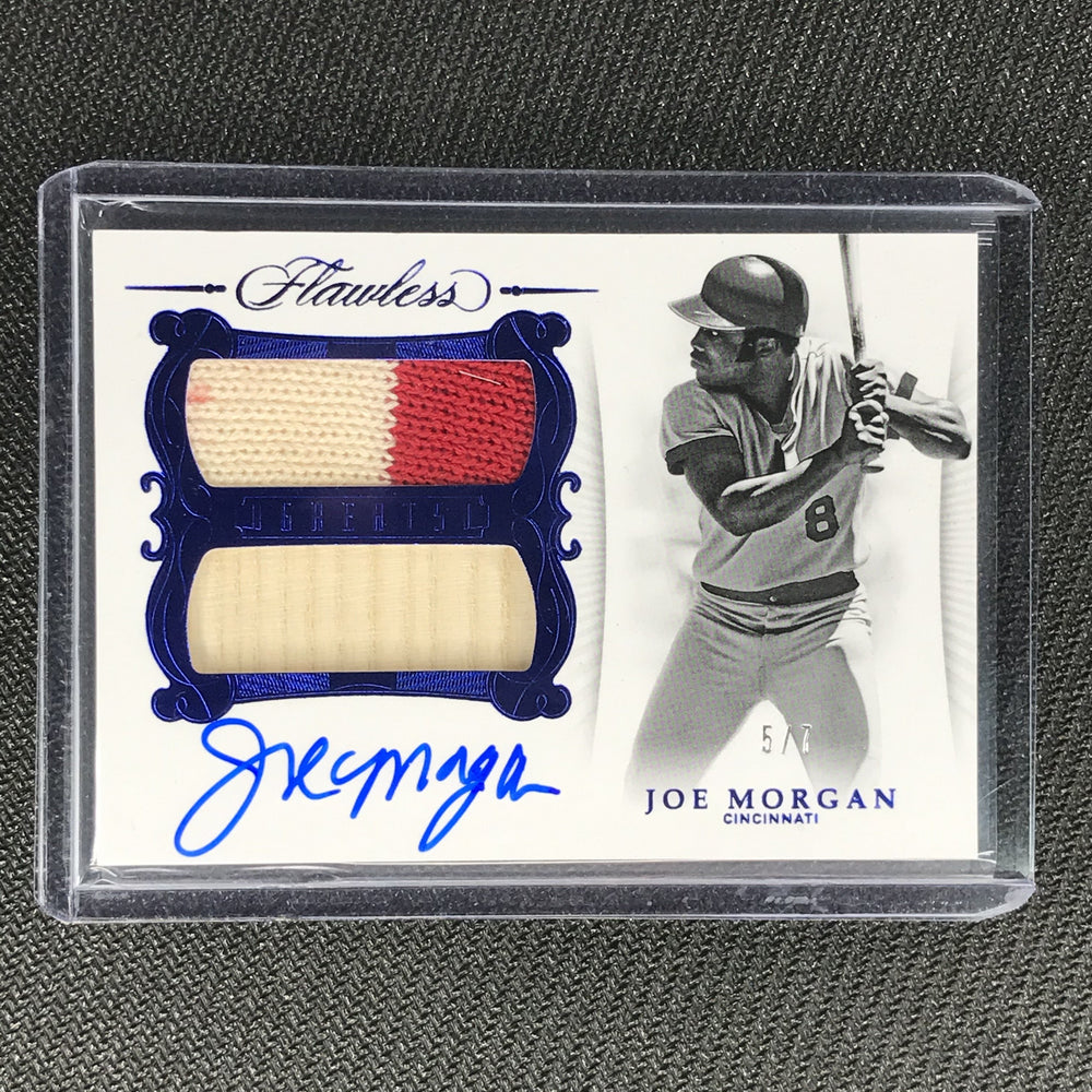 2019 Flawless JOE MORGAN Dual Relic Auto Sapphire Blue 5/5-Cherry Collectables