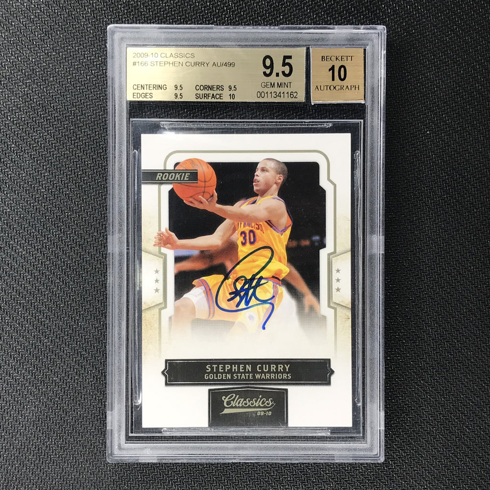 2009-10 Classics STEPHEN CURRY Rookie Auto 372/499 BGS 9.5/10-Cherry Collectables