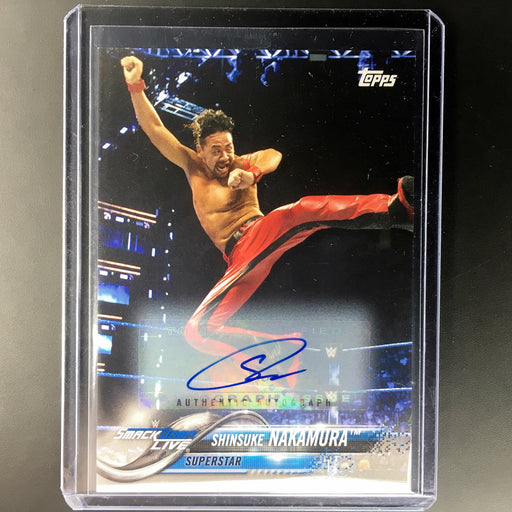 2018 Topps WWE Smackdown Live SHINSUKE NAKAMURA Auto 70/99-Cherry Collectables