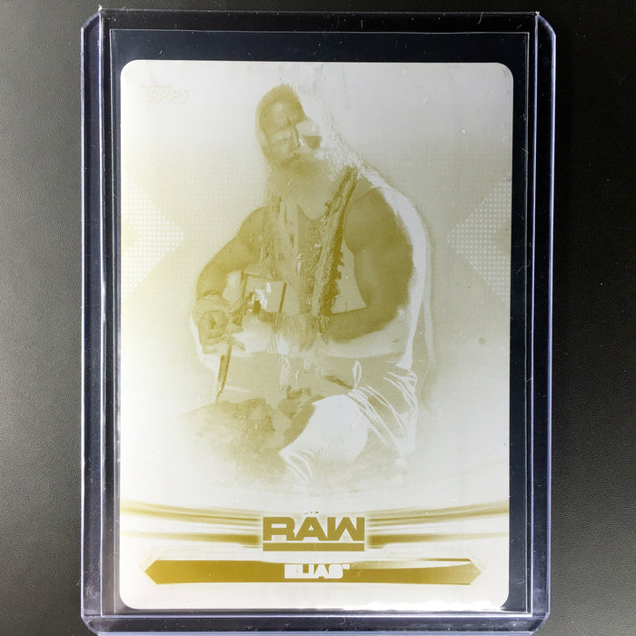 2019 Topps WWE Raw ELIAS 1/1 Printing Plate Yellow #28-Cherry Collectables