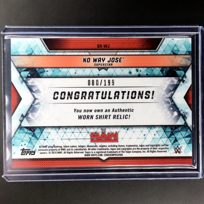 2019 Topps WWE Raw NO WAY JOSE Shirt Relic 80/199-Cherry Collectables