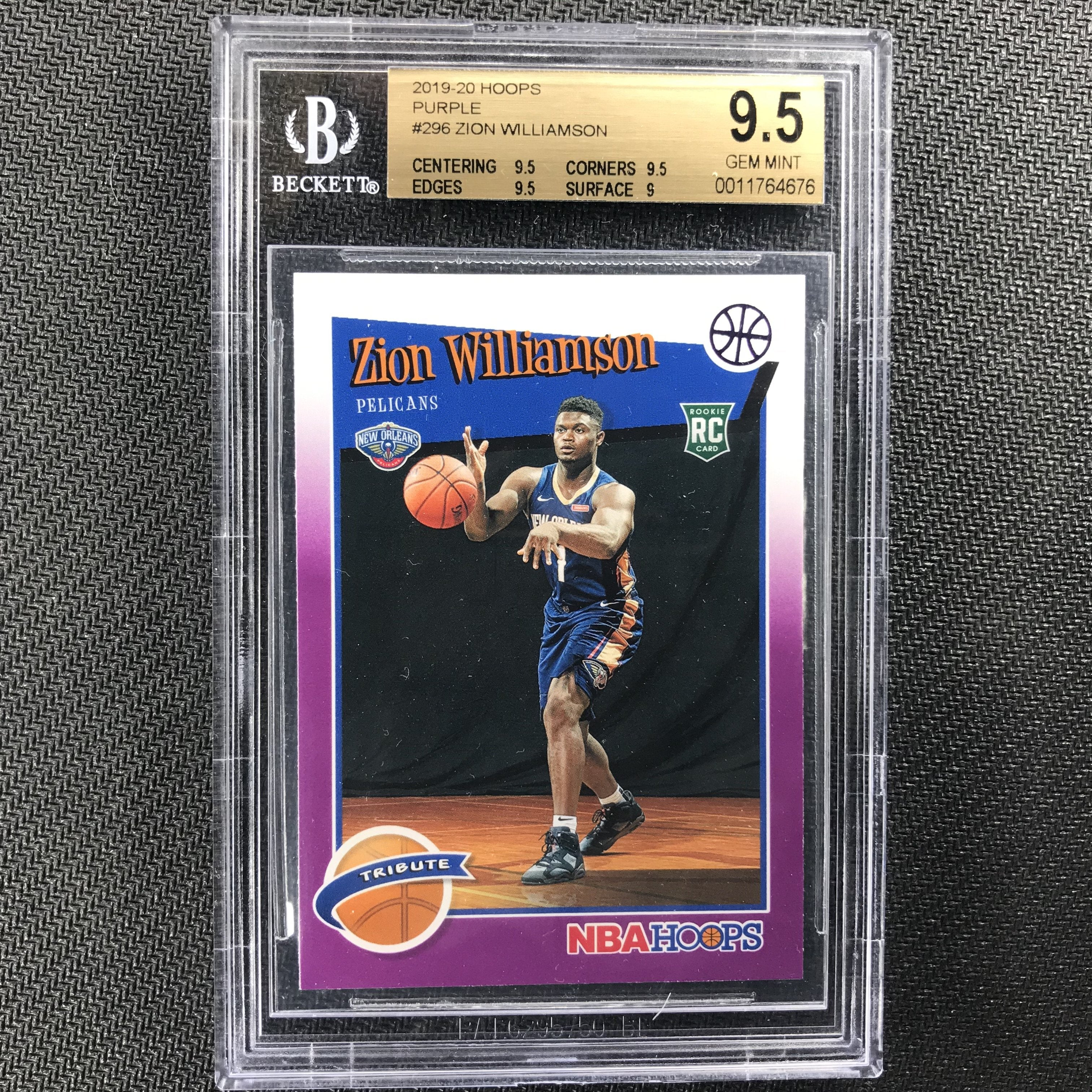 2019-20 Hoops ZION WILLIAMSON Tribute Rookie Purple BGS 9.5 POP 1-Cherry Collectables