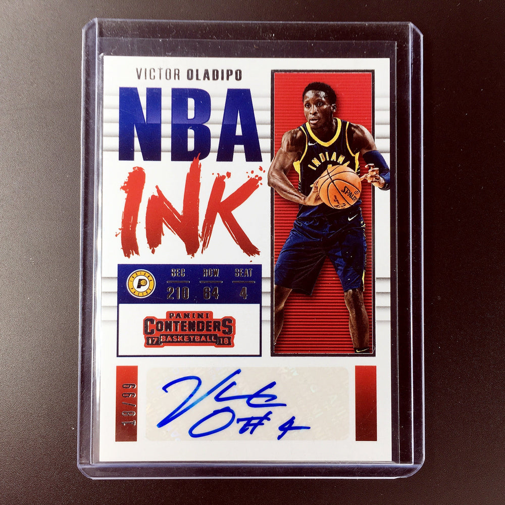 save off 96182 4f36f 2017-18 Contenders VICTOR OLADIPO NBA Ink Auto 18/99
