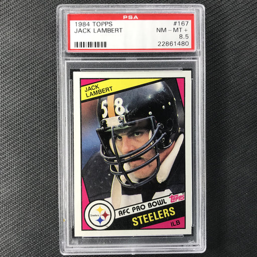 1984 Topps JACK LAMBERT PSA 8.5 #167-Cherry Collectables