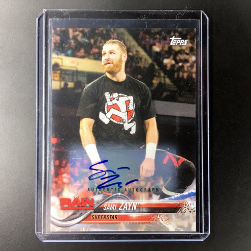 2018 Topps WWE SAMI ZAYN Auto 26/99-Cherry Collectables
