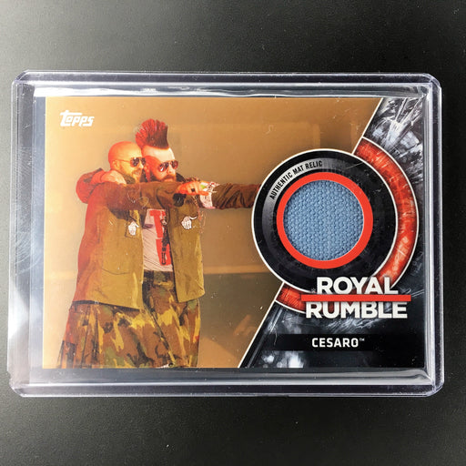2018 Topps WWE CESARO Royal Rumble Mat Relic 153/199-Cherry Collectables