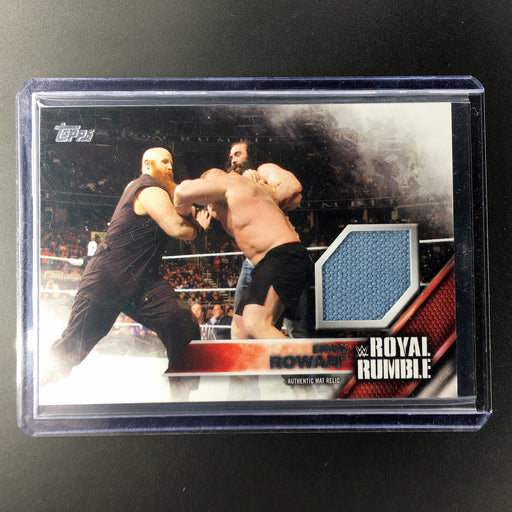 2016 Topps WWE ERICK ROWAN Mat Relic 321/399-Cherry Collectables