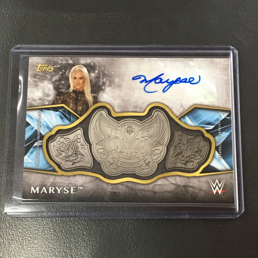 2017 Topps WWE MARYSE Commemorative Championship Plate Auto 48/99-Cherry Collectables