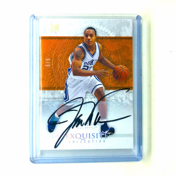 13-14 Exquisite JAY WILLIAMS Orange Collection Auto 6/6-Cherry Collectables