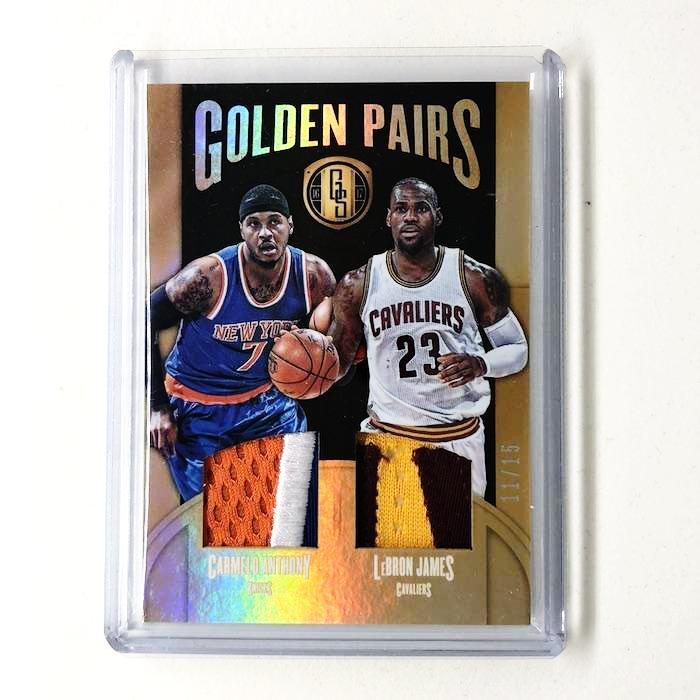 16-17 Gold Standard LEBRON JAMES Carmelo Anthony Golden Pairs Patch /15-Cherry Collectables