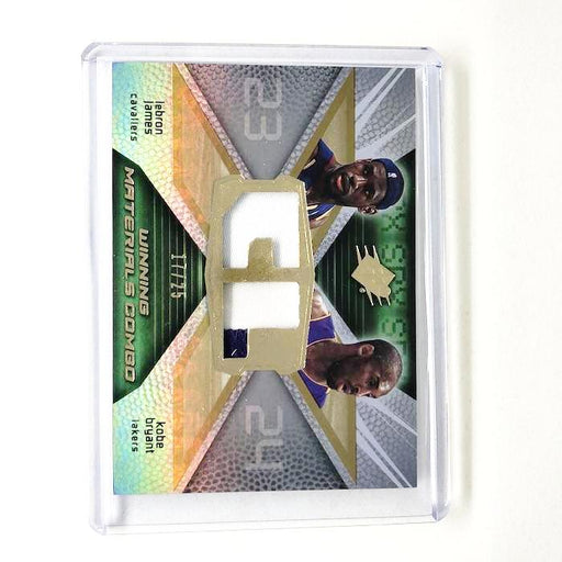 08-09 SPx KOBE BRYANT LEBRON JAMES Winning Materials Combos Patch 17/25-Cherry Collectables