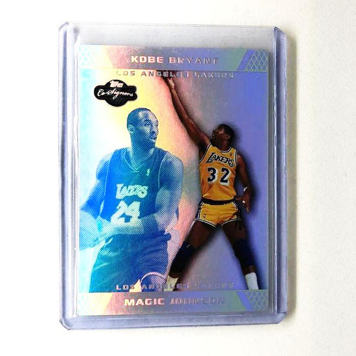 07-08 Co-Signers KOBE BRYANT MAGIC JOHNSON Silver Blue Refractor 9/29-Cherry Collectables