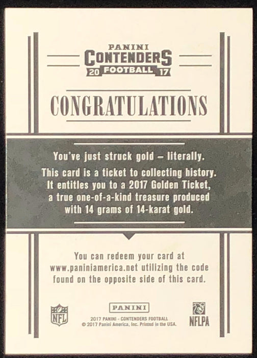 2017 Playoff Contenders LEONARD FOURNETTE Golden Ticket RC 14 Karat Gold Jaguars True 1/1-Cherry Collectables