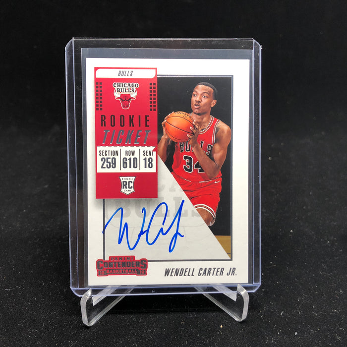18-19 Contenders WENDELL CARTER JR. RC Rookie Ticket Variation Auto-Cherry Collectables