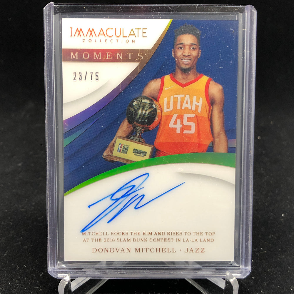 17-18 Immaculate DONOVAN MITCHELL RC Moments Acetate Auto /75-Cherry Collectables