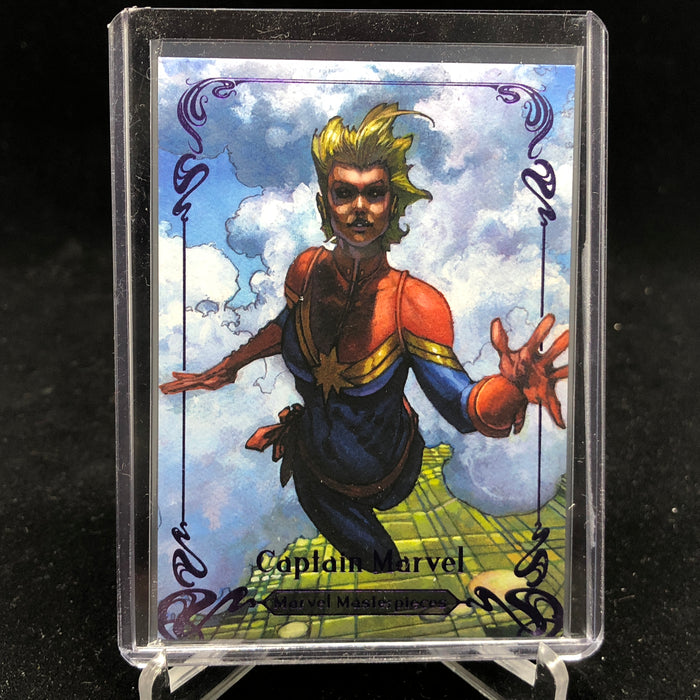 2018 Marvel Masterpieces CAPTAIN MARVEL #85 Tier 4 Purple Variant /199-Cherry Collectables