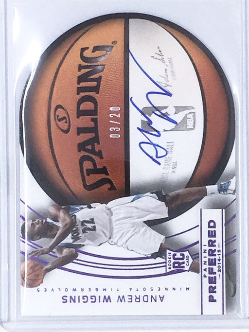 14-15 Preferred ANDREW WIGGINS Spalding RC Auto Purple 3/20-Cherry Collectables