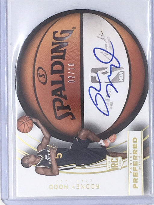 14-15 Preferred RODNEY HOOD Spalding Gold RC Auto 2/10-Cherry Collectables