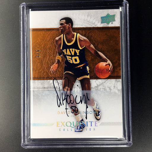 2013-14 Exquisite DAVID ROBINSON Auto 3/6 Copper-Cherry Collectables