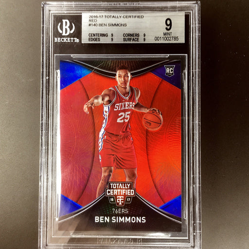 2016-17 Totally Certified BEN SIMMONS Red Rookie Prizm 81/199 BGS 9-Cherry Collectables