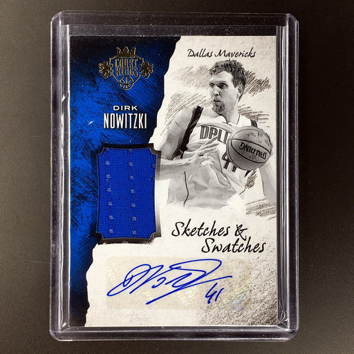 2016-17 Court Kings DIRK NOWITZKI Sketches & Swatches Auto 8/60-Cherry Collectables