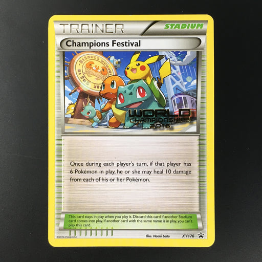 Champions Festival - XY176 - Worlds 2016 Promo (E)-Cherry Collectables