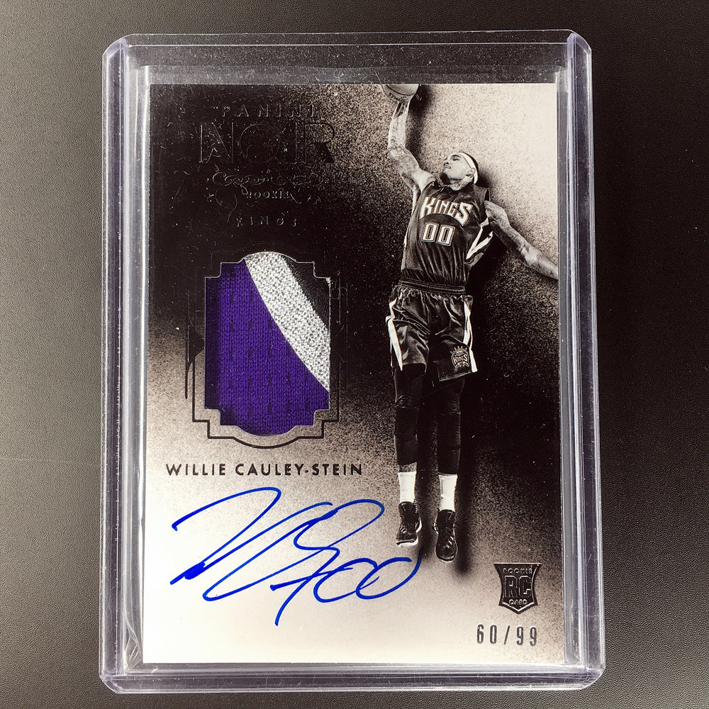 15-16 Noir WILLIE CAULEY-STEIN Black and White Jsy Auto RC RPA 60/99-Cherry Collectables