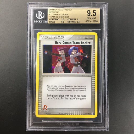 Here Comes Team Rocket! - 111/109 - Holo Secret Rare -BGS 9.5 GEM MINT-Cherry Collectables