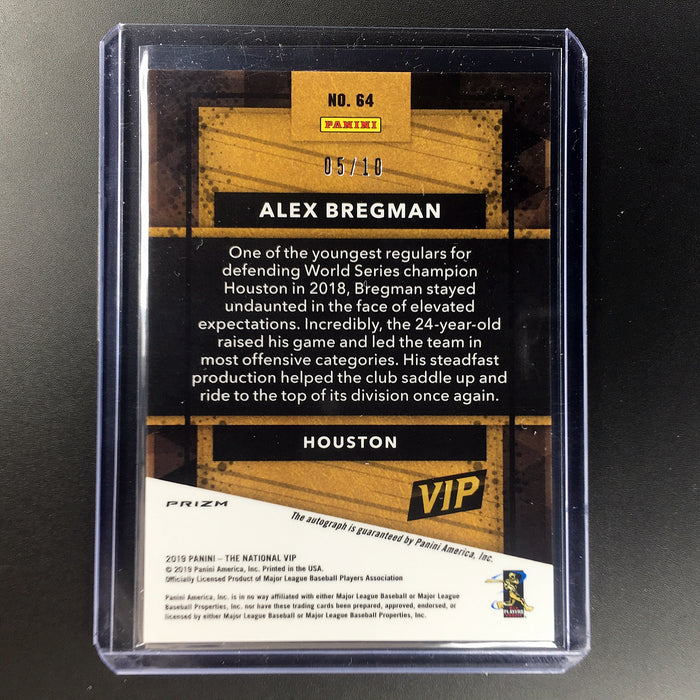 2019 The National ALEX BREGMAN Green Scope Prizm Auto 5/10-Cherry Collectables