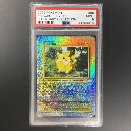 PSA 9 Pikachu - 86/110 - Common Reverse Holo - Legendary Collection-Cherry Collectables