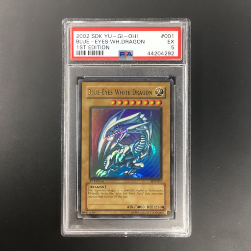 PSA 5 Blue-Eyes White Dragon - SDK-001 - Ultra Rare 1st Edition-Cherry Collectables