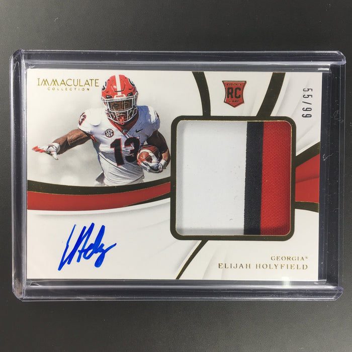 2019 Immaculate ELIJAH HOLYFIELD Rookie Patch Auto 55/99-Cherry Collectables