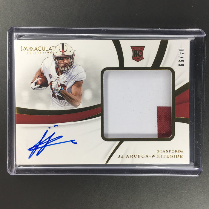 2019 Immaculate JJ ARCEGA-WHITESIDE Rookie Patch Auto 4/99-Cherry Collectables