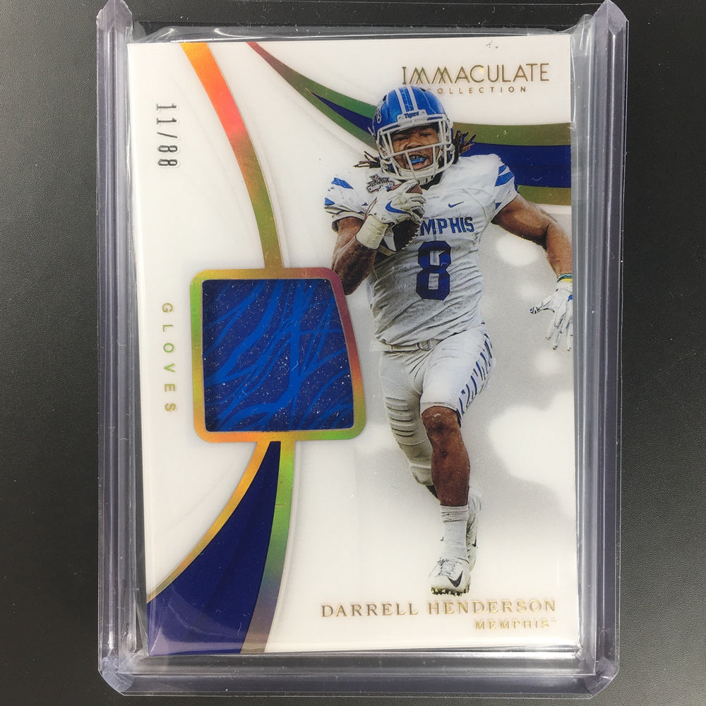 2019 Immaculate DARRELL HENDERSON Rookie Gloves Patch 11/88-Cherry Collectables
