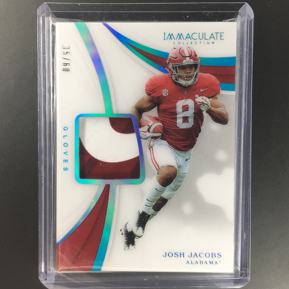 2019 Immaculate JOSH JACOBS Rookie Gloves Patch 35/60-Cherry Collectables