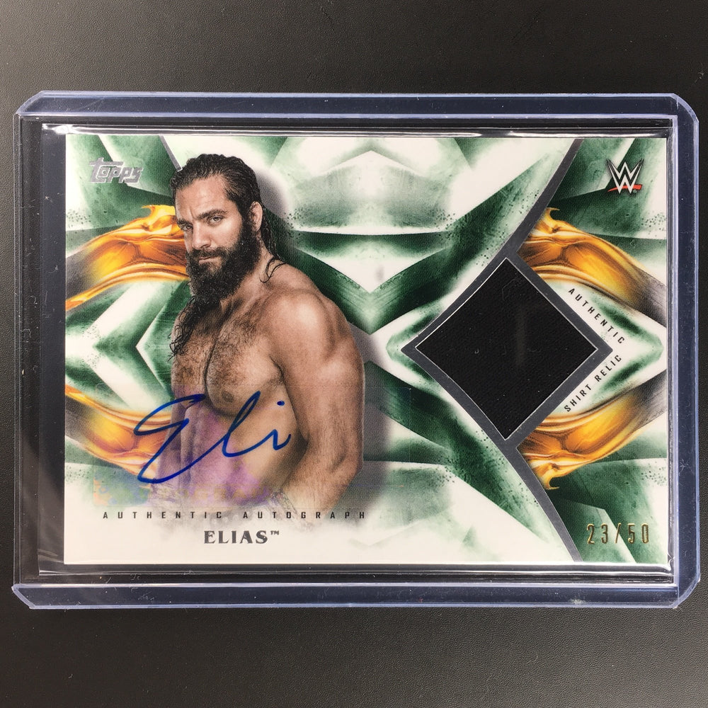 2019 WWE Undisputed ELIAS Relic Auto Green 23/50-Cherry Collectables
