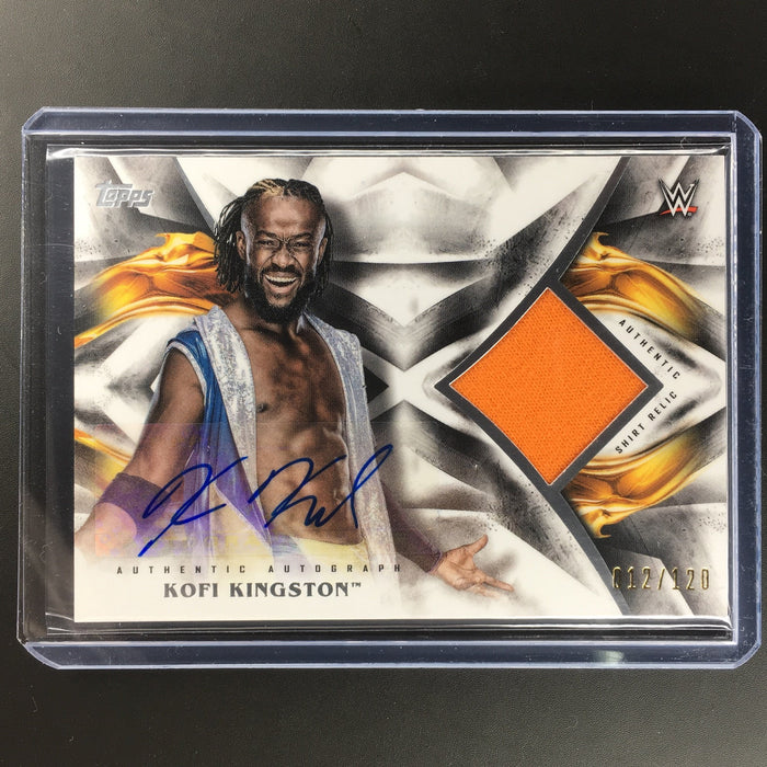 2019 WWE Undisputed KOFI KINGSTON Relic Auto 12/120-Cherry Collectables