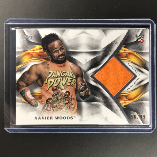 2019 WWE Undisputed XAVIER WOODS Relic 56/99-Cherry Collectables