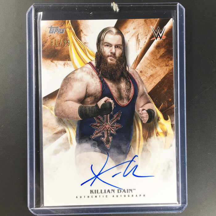 2019 WWE Undisputed KILLIAN DAIN Orange Auto 81/99-Cherry Collectables