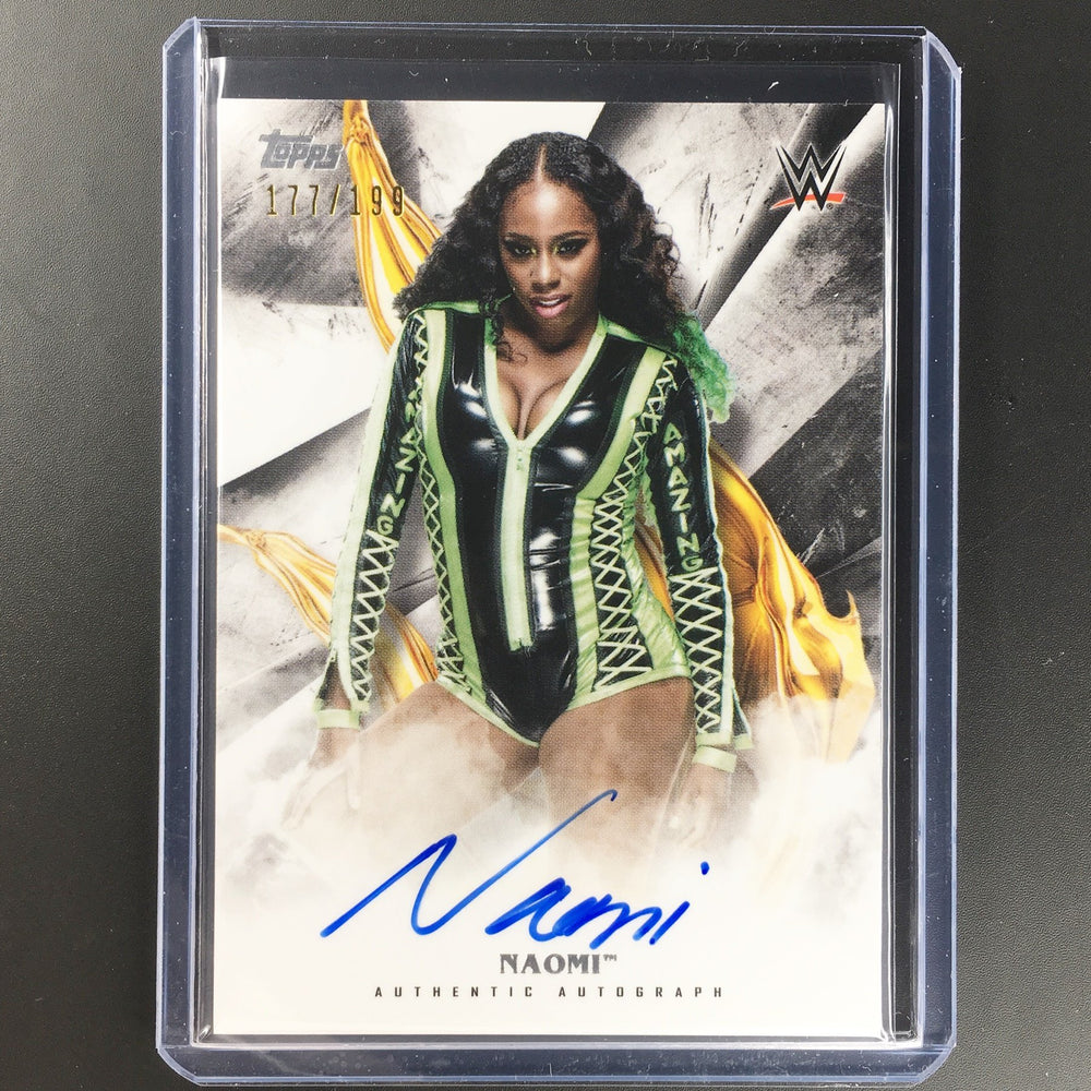 2019 WWE Undisputed NAOMI Auto 177/199-Cherry Collectables